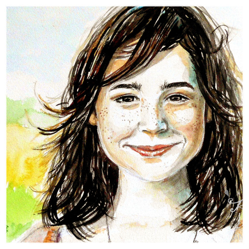Aquarell Portraits Frauen