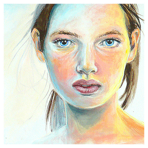 Acryl Portraits Frauen