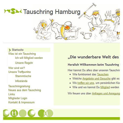 Weblayout Tauschring Hamburg